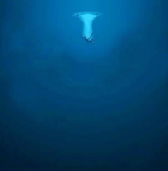 Fall in the ocean